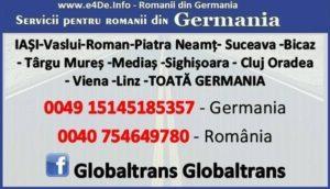 Transport in si din Germania cu S.C. Globaltrans